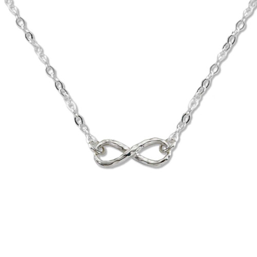 Sterling Silver Mini Infinity Necklace