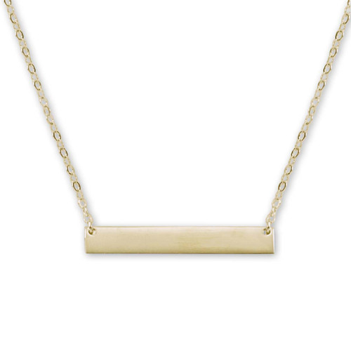 14kt ID Bar Necklace