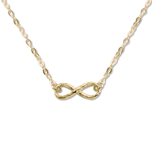 14kt Gold Handmade Mini Infinity Necklace