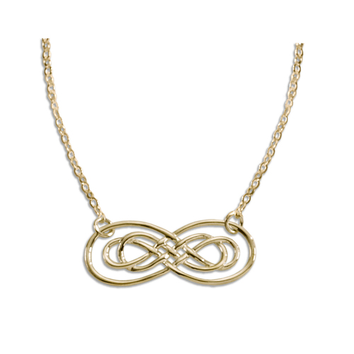 14kt Gold Harmony Infinity Necklace Symbol of forever