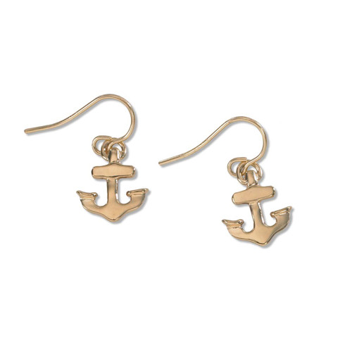 "The anchor symbolizes hope and strength. Made of 14kt Gold.   1/2"" across at widest part 5/8"" long."
