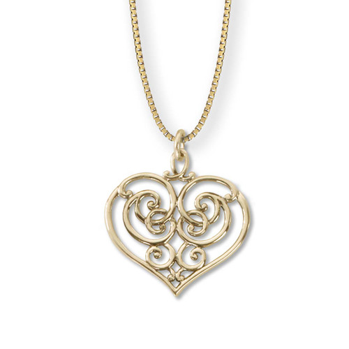 14kt Garden Gate Heart Pendant