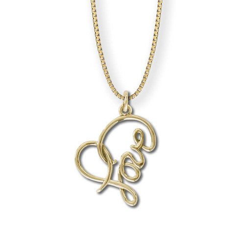 14kt Gold Love Heart Pendant