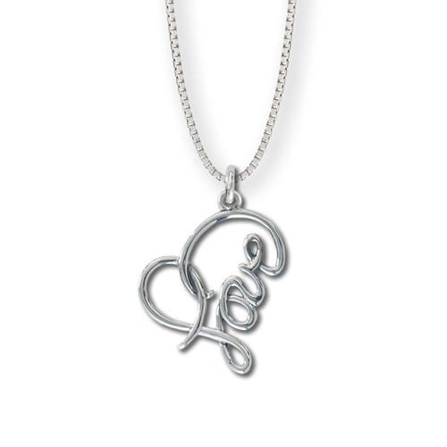 Sterling Silver Love Heart Pendant