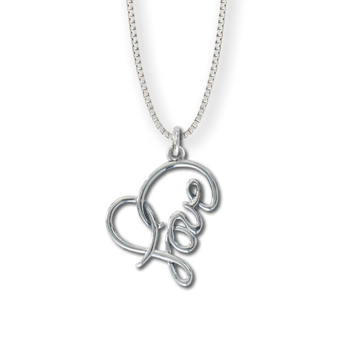 Sterling Silver Love Heart Pendant