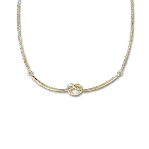 14kt Gold Love Knot Necklace