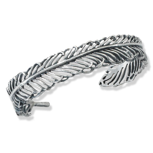 Sterling Silver Filigree Feather Cuff