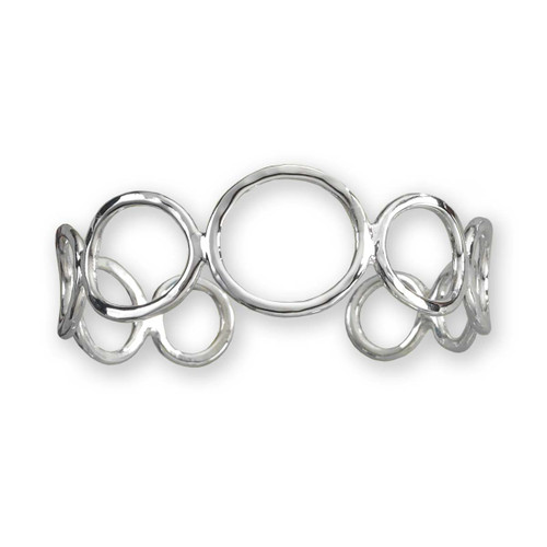 Sterling Silver Circles Cuff Bracelet