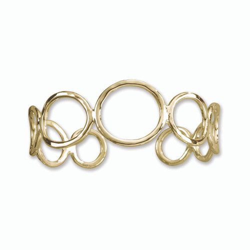 14kt Gold Circles Cuff