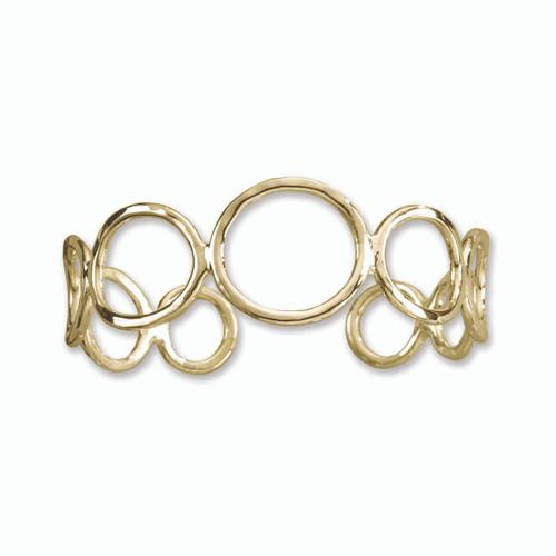 14kt Gold Classic Circles Cuff Bracelet
