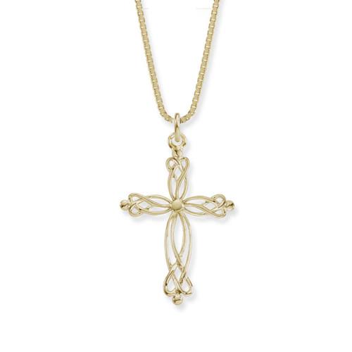 14kt Gold Fiona Cross Pendant