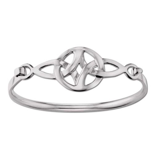 Sterling Silver Celtic Knot Clip Bracelet