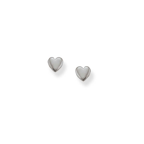 Sterling Silver Heart Talisman Earrings