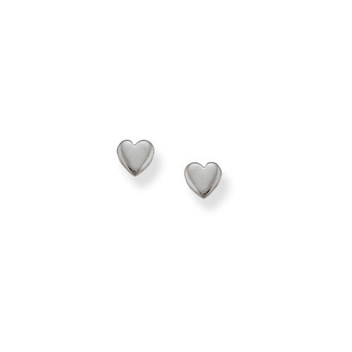 Sterling Silver Heart Talisman Earrings Symbol of Affection