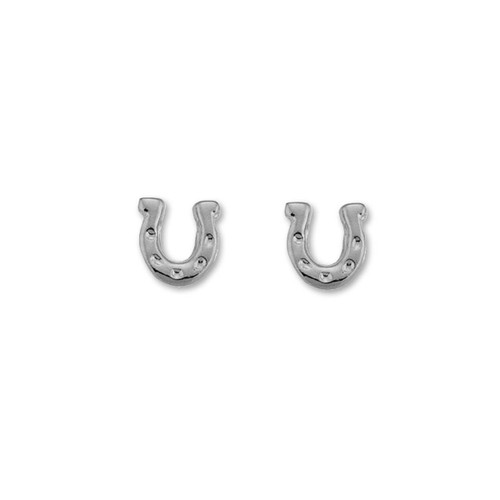 Sterling Silver Horseshoe Talisman Earrings