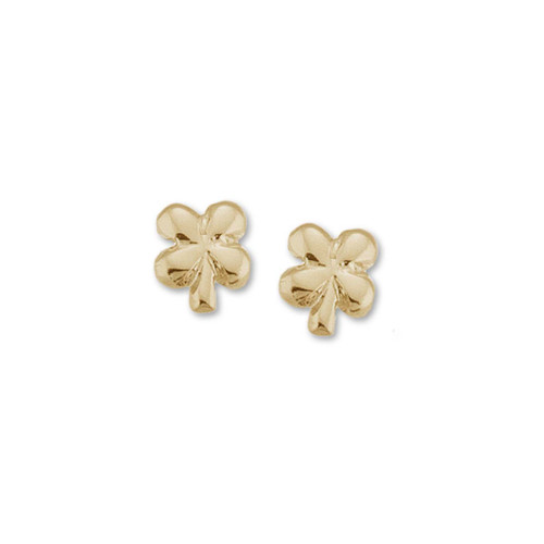 14kt Clover Talisman Earrings