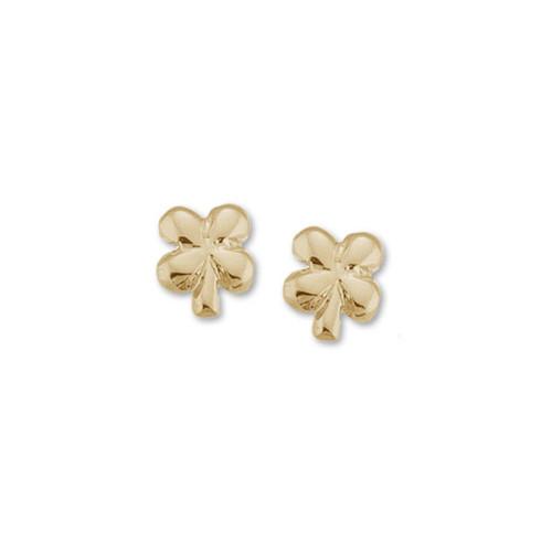 14kt Gold Clover Talisman Earrings symbol of Good Luck & Fortune