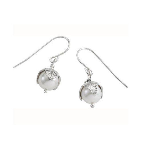 Sterling Silver Pearl Bud Earrings