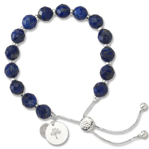 Sterling Silver Color Me Kindred Lapis Lariat Bracelet