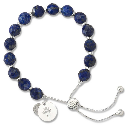 Sterling Silver Color Me Kindred Lapis Lariat Bracelet