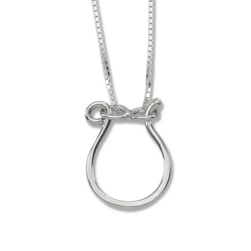 Shop sterling silver forged charm holder necklace for women sterling silver hand forged charm holder necklace aloadofball Images
