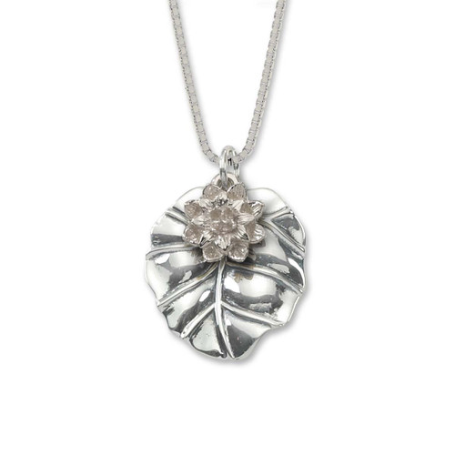 Sterling Silver Waterlily  Pendant