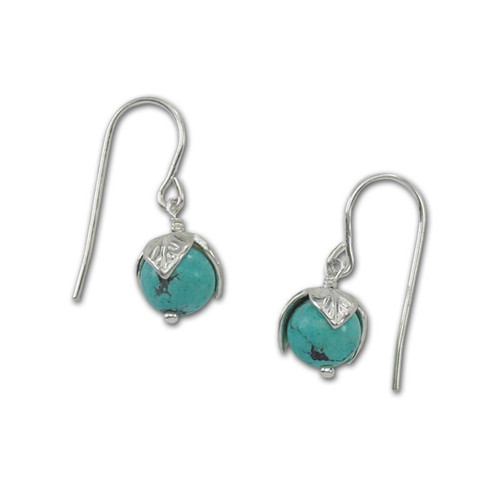 Sterling Silver Turquoise Bud Earrings