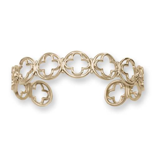 14kt Gold Italian Design Verona Cuff Bracelet