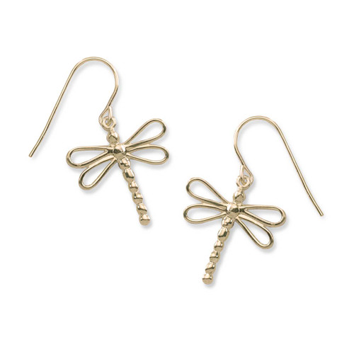 14kt Gold Dragonfly Earrings