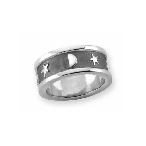 Sterling Silver Lunar Ring