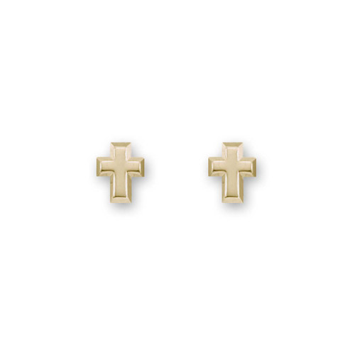 14kt Gold Cross Post Stud Earrings