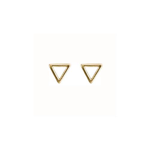 14kt Triangle Post Earrings