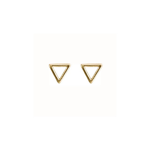 Modern Classic 14kt Gold Triangle Post Earrings