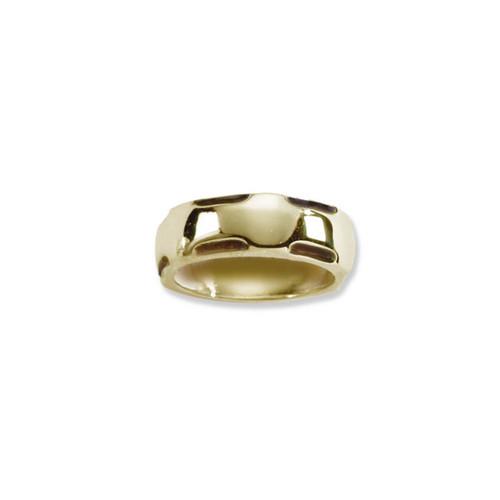 14kt Gold Polished Scoop Edge Ring