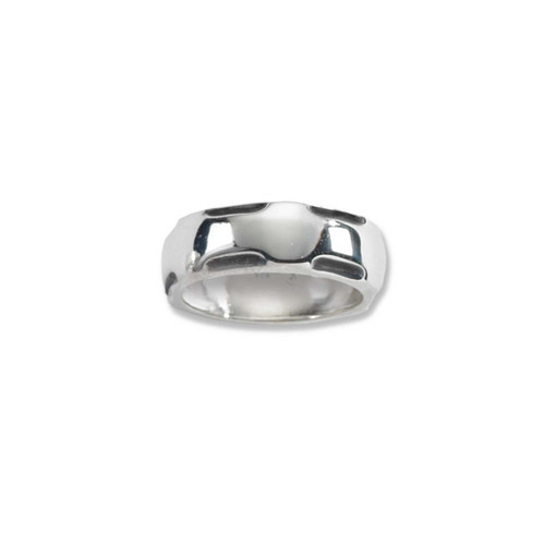 Sterling Silver polished Scoop Edge Ring