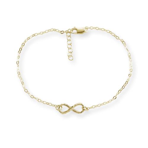"14kt Gold Mini Infinity Bracelet 7 1/2"""