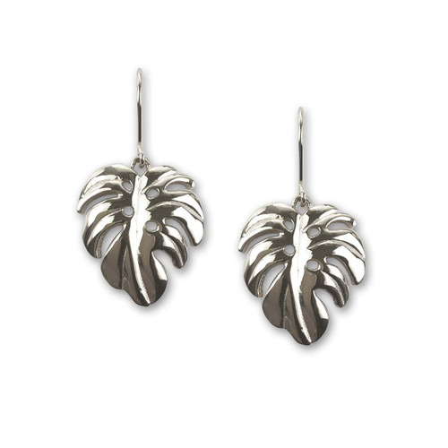 Sterling Silver Perfect Palm Leaf Earrings