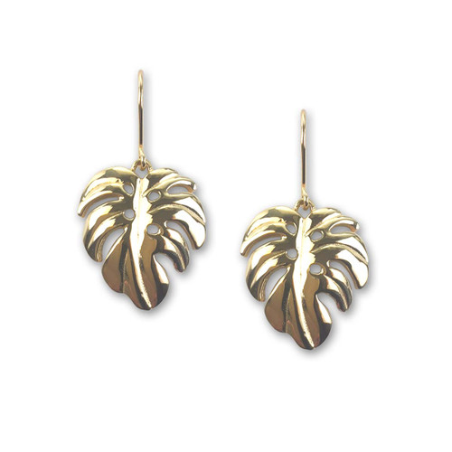 14kt Gold Perfect Palm Leaf Earrings
