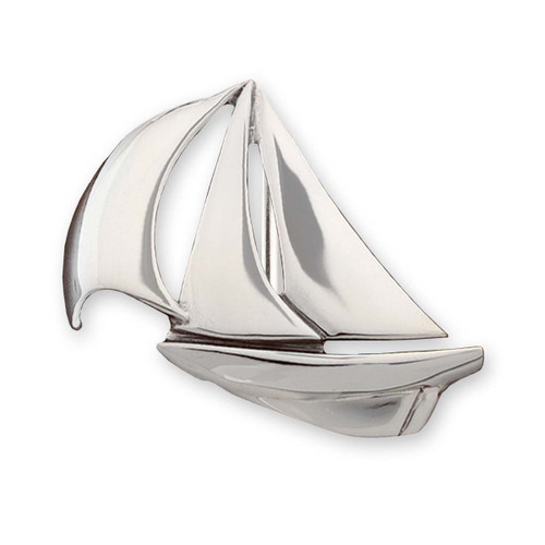 Sterling Silver Down Wind Buckle