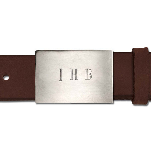 Sterling Silver Metropolitan Buckle with Leather Belt