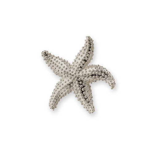 Sterling Silver Starfish & Nautical Pin