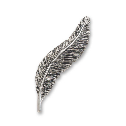 Sterling Silver Feather & Inspired Brooch Pin
