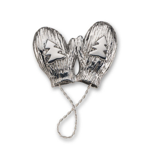 Sterling Silver Mittens Pin