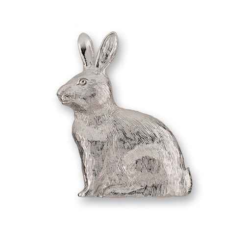Sterling  Silver Rabbit Pin