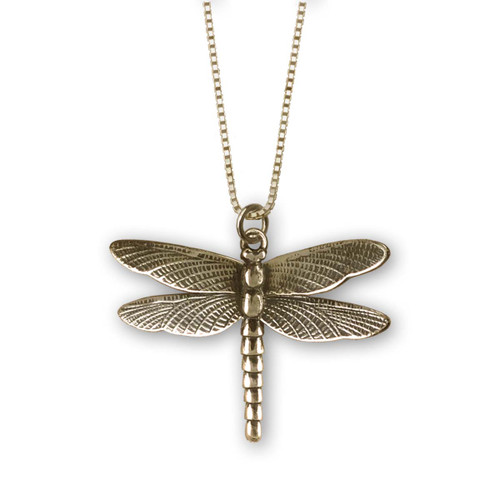 14kt Gold Dragonfly Pendant