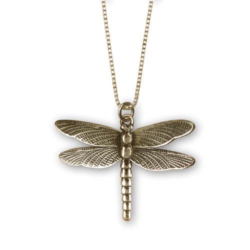 14kt Gold Dragonfly Pendant