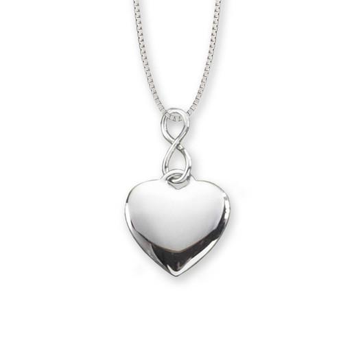 Sterling Silver Infinity Heart Pendant