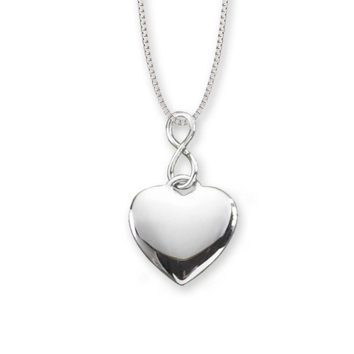Sterling Silver Infinity Heart Pendant