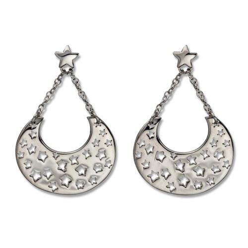 Classic Sterling Silver Night Sky Dangle Earrings