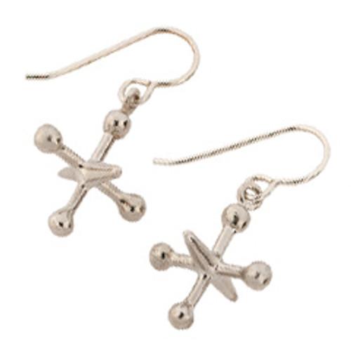 Classic Sterling Silver Jacks Earrings